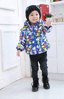 Wholesale 2016 Hot Sale new style children boys warm winter outwear jacket children cute cartoon dog printing Thicken cotton Down Coat