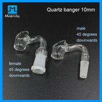 Wholesale Quartz banger nail mm mm mm male female joint for Vaporier wax heb dry herbal