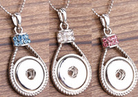 Wholesale 2016 New Hot Style NOOSA Ginger Snap Charms Jewelry Interchangeable Jewerly Crystal Pendants Necklace Colors