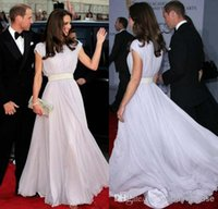 Wholesale Kate Middleton Formal Red Carpet Celebrity Dresses Lavender Chiffon Long Formal Gowns Cheap Prom Party Dresses