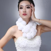 rabbits for sale - Ladies Scarf Winter Colors Hot Sale Real Rex Rabbit Fur Scarf For Women Handmade Pompom Scarves Winter Fur Wraps YSC025