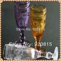 beer stemware - purple white amber High Qauilty Beer Claret Wine champagne stemware glasses Cups and Vintage vodka Mugs
