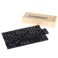 Wholesale Perfect Gift R1B1 Cheap Standard Wooden Domino New Brand Children Educational Toys Dominos Game Play Set Fun Board Game
