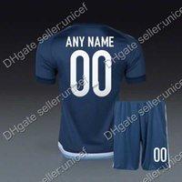 argentina away kit - customized Argentina away dark blue soccer uniforms jerseys and short football kit sportswear