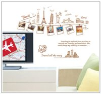 Wholesale Wall Stickers Travel Around The World Decoration Wall Hangings Stickers Wall Stickers Home Decor Stickers Wall Poster CM