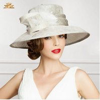 Wholesale New Arrival Women Hat Organza Wedding Dress Hat Church Hat Samlll Brim Feather Evening Party Hats Available