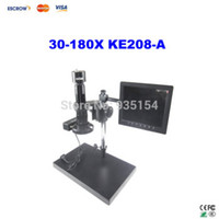 Wholesale Free ship X KE208 A Electron Zoom Video Eyepiece Microscope Magnifier KE A CCD camera system with VGA Interface