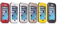 aluminum bubble - High Quality Waterproof Metal Aluminum Case For iphone s inch plus case Gorilla Glass key paragraph Phone Case With Bubble bag