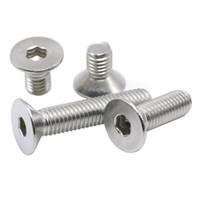 Wholesale M2 Thread Dia mm A2 Stainless Steel Flat Head Socket Screws Countersunk Bolt length3 mm