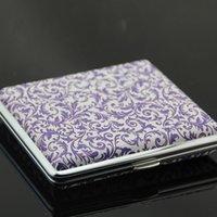 Cheap HX-6008 blue and white porcelain cigarette case cigarette lighter 20 pack USB charging cigarette case