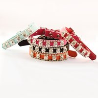 Wholesale Armi store Rhinestone Chain Dog Collar For Princess Dogs Collars Pet Traction Boutique Accessories XS S M
