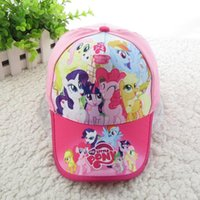 Girl Winter Ball Cap 2017 New baby My little pony fashion sun hat for girls cartoon baseball caps children cotton peaked caps kids accessories free shipping