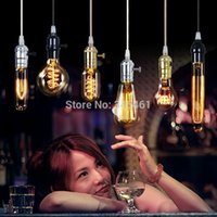 Wholesale Different Options1910 Edison Bulb Lamp E27 bulb lamp V W Warm Atmosphere Retro Romantic Bar Living Room Dance Party Lamp A2