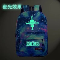 animated high school - Noctilucent One Piece bag animated cartoon backpack high school backpack leisure bag