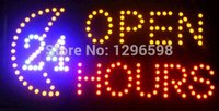 Wholesale hot sale low power inch semi outdoor led moving signs for store hours open business