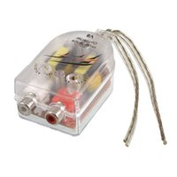 Wholesale FS Hot Car High to Low Impedance Converter Adapter Speaker to RCA Line order lt no track