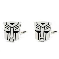 hasbro - Hasbro Men s Transformers Autobot Silver Bullet Back Cufflinks movie charactor cufflinks gaming cufflinks brass cufflinks