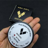 Wholesale Vapor TECH Pure Nickel Ni200Wire Temperature Control Wire Feet Gauge for DIY Atomizer TC Mod RBA Coil DHL