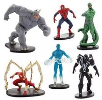 amazing figures - 2016 Spiderman Toys The Amazing Spiderman Rhino Venom PVC Action Figures Boys Toys Gifts approx cm
