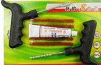 auto repair tools discount - Retail Discount Car Auto Tubeless Tire Tyre Puncture Plug Repair Kits Car Tools Auto Repair