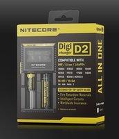 Wholesale Original Nitecore D2 D4 LCD Display Intelligent Battery Charger For Li ion Ni MH Ni Cd With US EU UK AU Plug