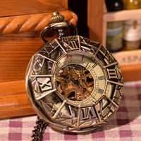 ancient spiders - Cool Ancient Rome Spider Man Pattern Analog Vine Antique Pocket Watches Clock Mens Hot Gift Vine Copper Case