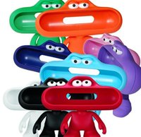 Wholesale 2015 NEW Arrival Pill Speaker Stand Dude Doll Big Mouth Character Holder Stand Case for Portable Pill Speaker