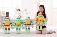 Wholesale 2015 new Genuine cartoon Teenage Mutant Ninja Turtles plush toys stuffed dolls Children s gift cm