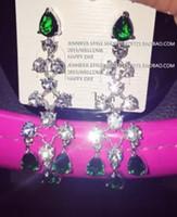Wholesale diamond waterdrop hollow lady s earings jennifer