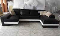 Wholesale Sofa New Modern Design Large Size Sofa U Shaped Couches Real Leather Corner Sofa Home Furniture LC9102