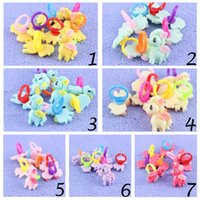 little girl jewelry - 10pcs LJJC2225 High Quality Baby Resin My little Pony Cartoon Kids Rings Fashion Cute Baby Girl Boy Rings For Party Children Jewelry