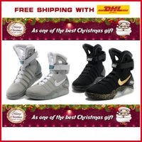 Wholesale with DHL Nike air mag shoe LED men nike running shoes and basketball Shoes high quality nike shoe