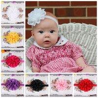 hair rubber band - Children Hair Accessories Girl Rubber Band Chiffon Lace Sweet Flower hair Band Baby Florals Headband G006