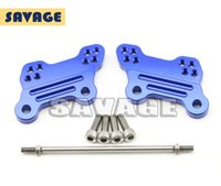 adjustable foot pegs - For YAMAHA YZF R3 YZF R25 Motorcycle Adjustable Foot Peg Mount Bracket Plates Blue