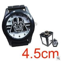 Wholesale 100pcs New Arrival Star Wars Darth Vader Fashion Kids Metal Black Silicone Watch Wristwatch Men s The Force Awakens Casual Watch