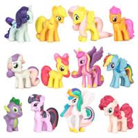 Wholesale kids My little pony set cm Action Figure children gift toys home Decoration plastic dolls J062409 DHL FREESHIP