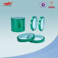 best green insulation - Best seller roll inch High temperature resistance PET green insulation tape powder coating spray masking tape