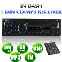 Wholesale car dvd New DIN CAR VIDEO AUDIO WMA DVD VCD CD MP4 MP3 USB PLAYER DETACHABLE PANEL AM FM order lt no tracking