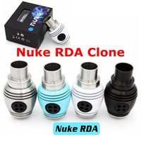 bearing body - 2015 Nuke RDA Rebuildable Dripping Atomizer Clone Turbine Fans Adjustable Airflow Round Body Wide Bore Drip Tip Thread Fit Box Mod DHL