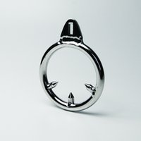 Wholesale Barbed Anti off Ring For Cock Cage Stainless Steel Male Chastity Device CBT Toys Metal BDSM Toys Bondage Gear Adult Sex Toys For Men
