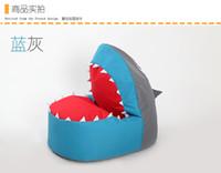 chair bed - Small bean bag sofa children single cute cartoon art shark lazy sofa creative chair bed couch couch rice