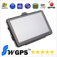 Wholesale 7 inch GPS navigation FM DDR128MB car gps MTK MS2531 MHZ Free maps for Europe North America USA Canada Australia