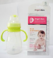 Silicone baby bottles - BPA Free Silicone Anti inflation oz ml Baby Feeding Bottle Baby Nursing Bottle W Handle And Straw Curved Bottle Body Design