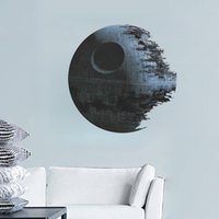 Wholesale 2015 star wars wall stickers Death Star D wallpapers wall decals children removable novelty wallpaper for kids room