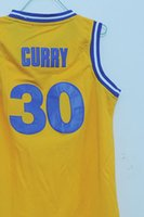 plain jerseys - 2015 new Stephen Curry Warriors Old School Replica kids Jersey blue yellow youth basketall jersey
