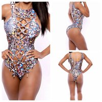 Wholesale 2016 Swimwear Tankini Swimwears Sexy Bikini One Piece Monokini Contrast Color Swimsuit Beachwear Bathing Suit M L XL for Women