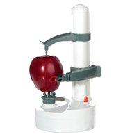 electric potato peeler - High Quality Portable Automatic Electric Fruit Pear Potato Peeler Stainless Steel Fruit Machine Peeled Tool Home Kitchen