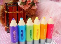 Wholesale Fashion Crayon Moisturizing Lip Balm Super lovely colour Pen Gift Present for Kids gitf High Quality