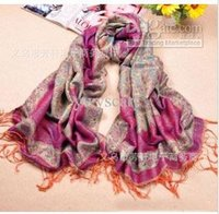 Wholesale The Latest Style Scarf Imitate Gold Thread Scarves For Women Thicker Spring Autumn Wrap Peacock Pattern Scarf