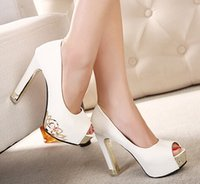 Wholesale Women Dress Shoes Sexy Lint Bow Pointed Toe cm High Heel White Black Ladies Girls Prom Evening Shoes Wedding Shoes Pumps